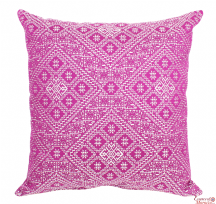Moroccan Cushion Pillow Handmade Square Fuchsia Authentic Fez Embroidered Brocade 55 cm x 55 cm